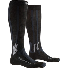 X-Socks Trek Expedition Chaussettes Homme, opal black/dolomite grey melange